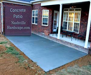 Nashville Concrete Patio, Broom Finish Concrete Patio