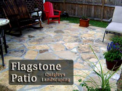 Nashville patios this is an image of a tan flagstone patio.