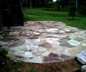 Nashville patios this is an oklahoma flagstone patio