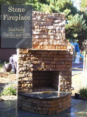 Nashville Fireplace, Nashville Stone Fireplace, Nashville Outdoor Fireplace image