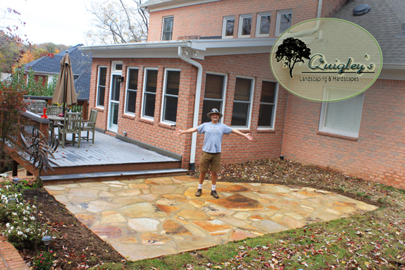 Dalton Quigley Is Standing On The Patio He Just Made In Brentwood  Tennessee. Get A