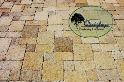 Nashville Paver Patios and even stone looking pavers. Photo of a patio made of pavers that look like stone.