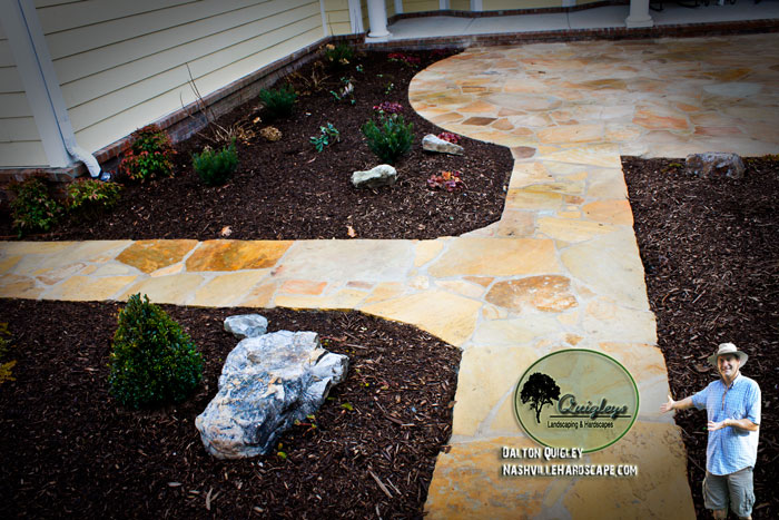 Hardscape-Courtyard-Tan-A hardscape patio project in Franklin TN.Craborchard-Nashville-TN-2