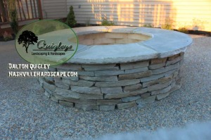 Nashville- Hardscape Fire Pit Gray Stone Brentwood, Franklin, Spring Hill, and Nolensville TN
