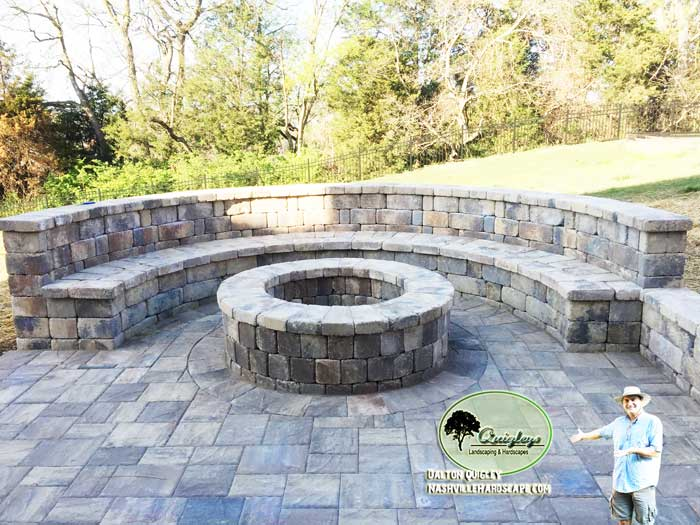 Nashville-Hardscapes-Hardscape-paver-Patio-Fire-Pit Brentwood, Franklin, Spring Hill, and Nolensville TN