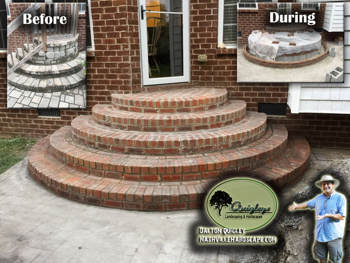 Nashville-Steps Brick Stone Pavers Brentwood Franklin Spring Hill and Nolensville TN