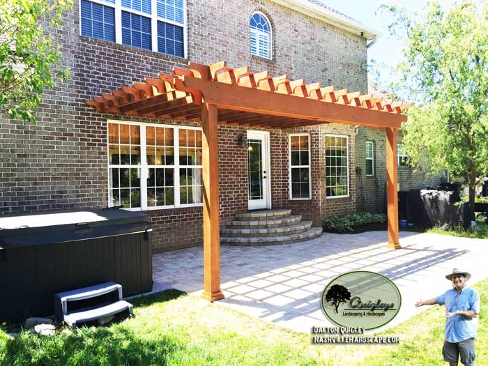 Nashville-Stained-Pergola, Brentwood, Franklin, Spring Hill, and Nolensville TN Pergola Builders.