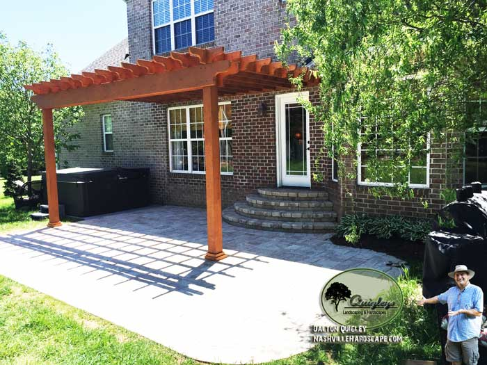 Tn-Stained-Pergola, Brentwood, Franklin, Spring Hill, and Nolensville TN Pergola Builders.