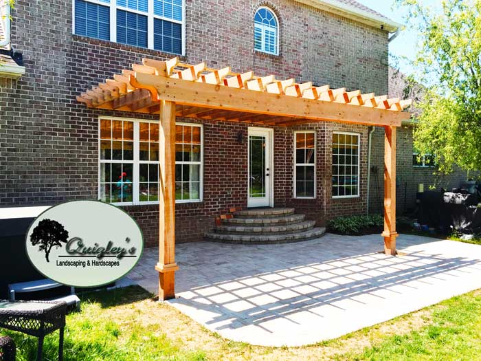 Tn-Unstained-Cedar-Pergola, Brentwood, Franklin, Spring Hill, and Nolensville TN Pergola Builders.