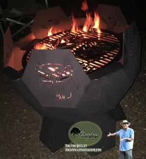 Robot-fire-pit Iron fire pit