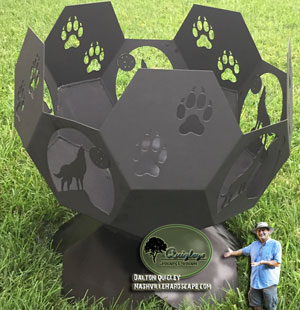 Wolf-fire-pit Iron fire pit