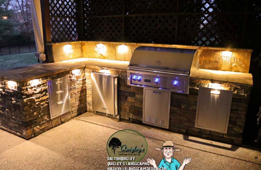 Photo of an Outdoor-Grill-we built in the Nashville area.